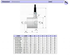 Koppelsensor type TRS van 0.5Nm tot 1000Nm I