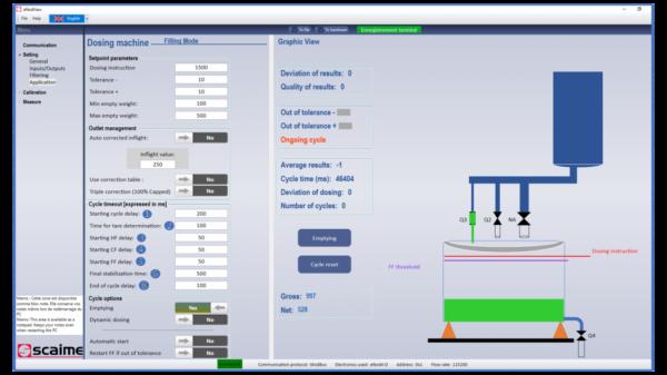 Weegversterker eNod4-D DIN Filling, Dosing controller