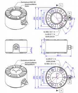 K6D80 Kracht-koppelsensor met 6 assen